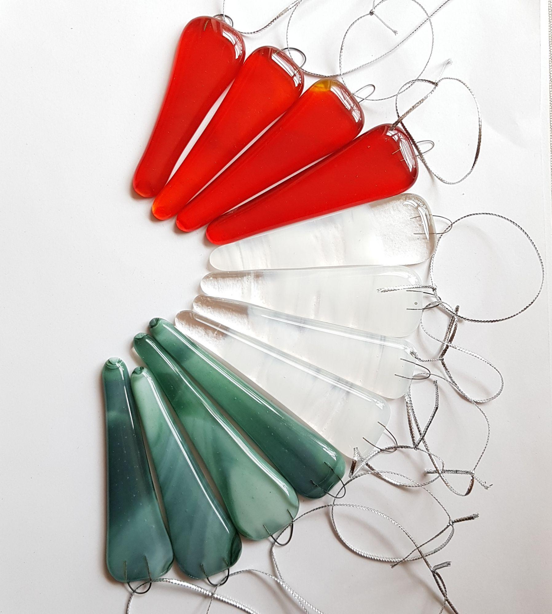 Christmas tree glass decorations