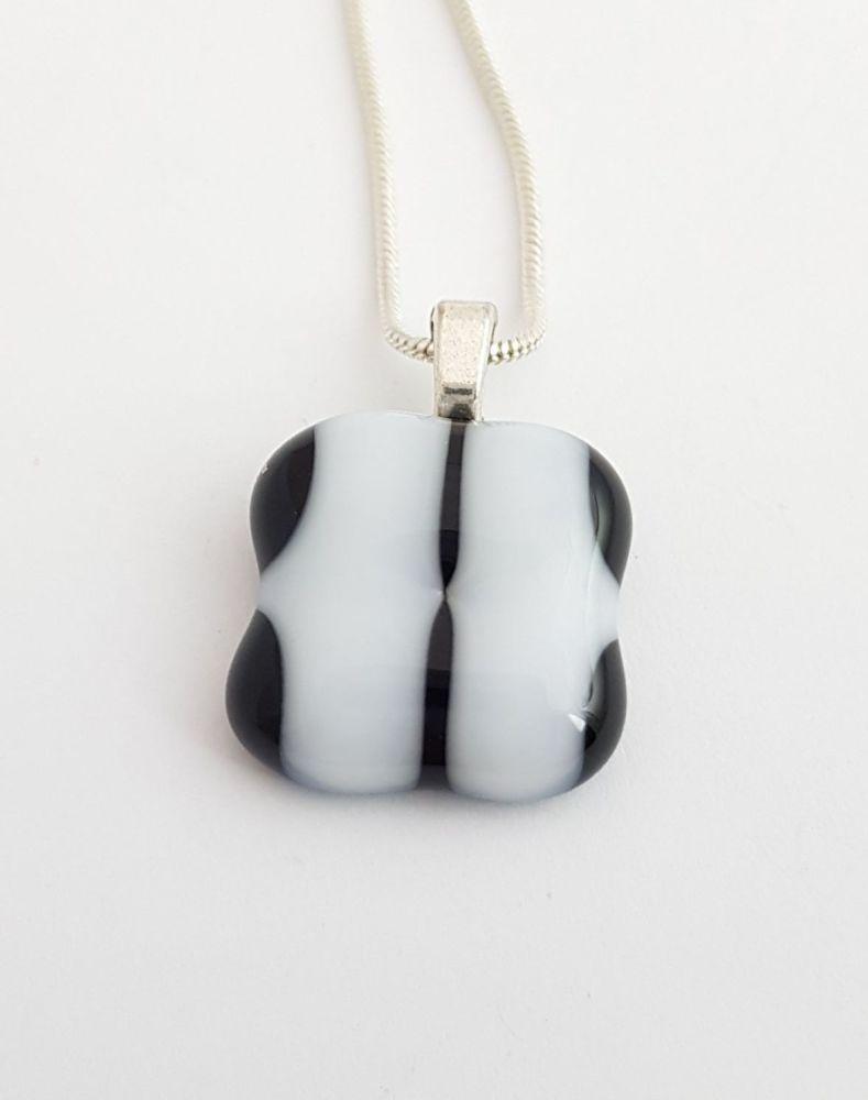 Black and white chequer pendant