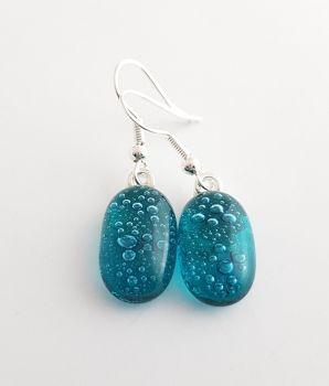 Bubbles - Peacock blue bubbles drop earrings