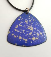 Royal blue with gold mica speckles necklace