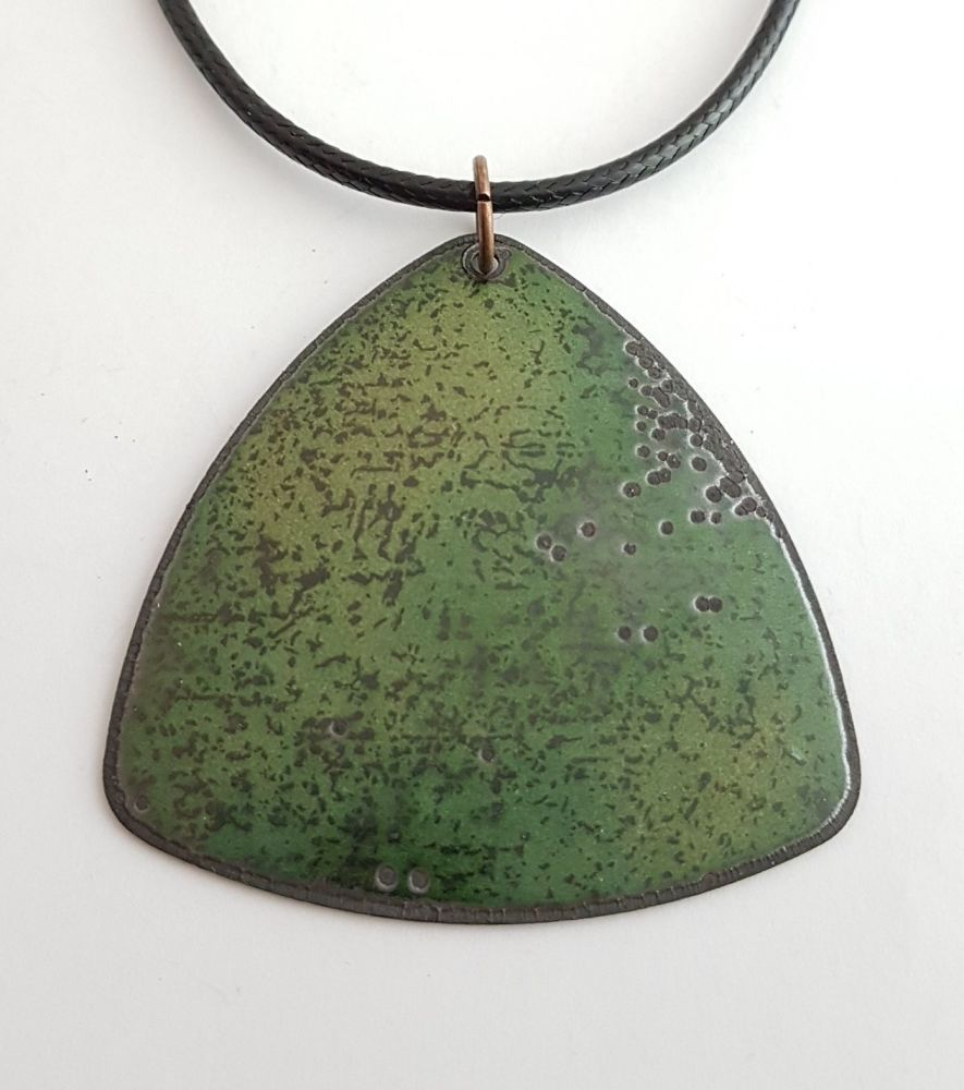 Olive green with black speckles necklace