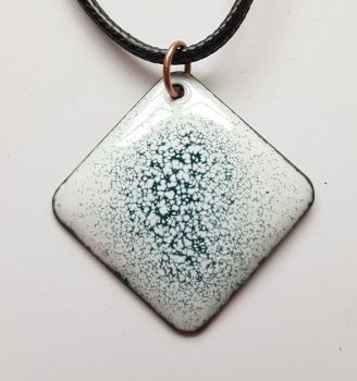 White with charcoal grey speckles necklace