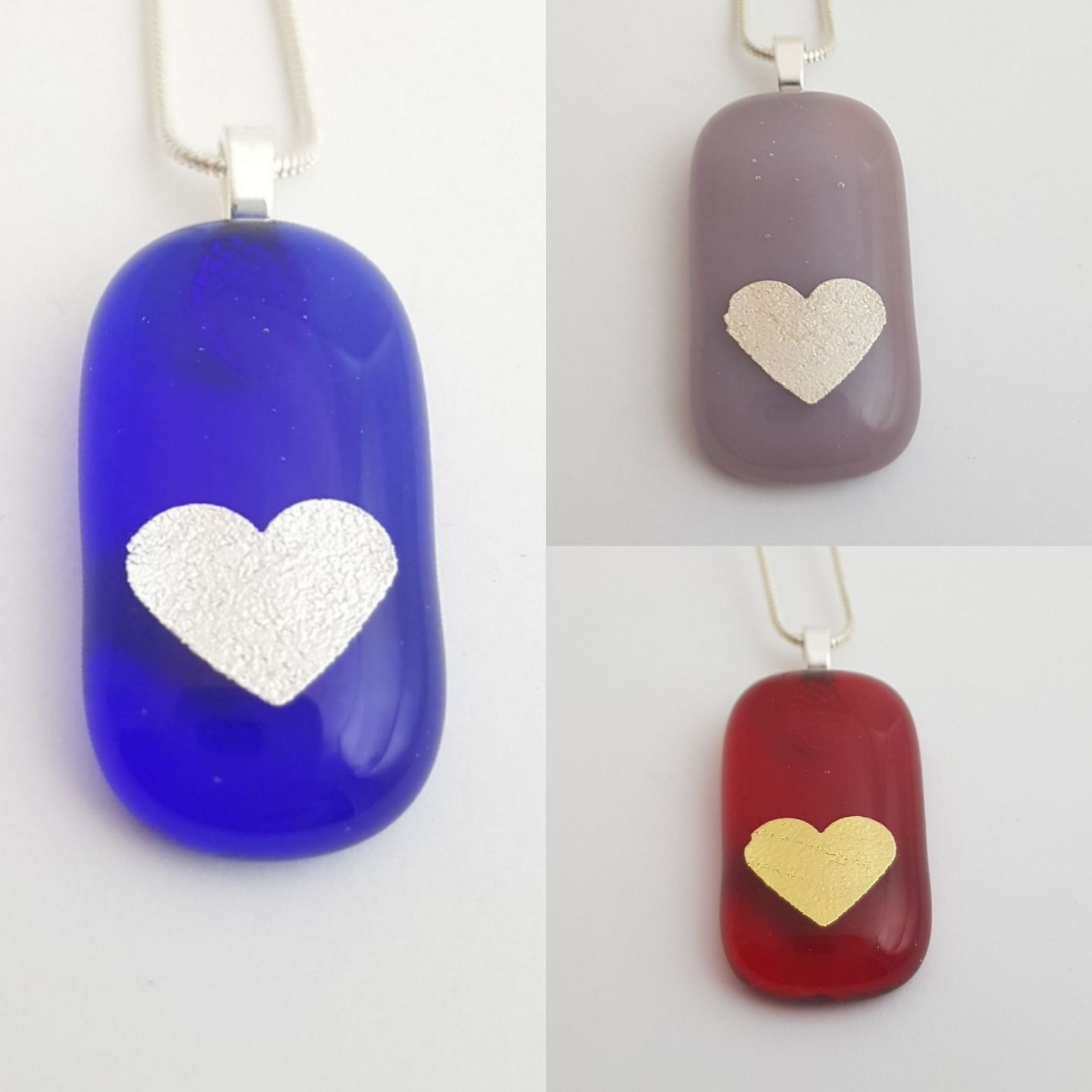 memorial ashes inside glass jewellery