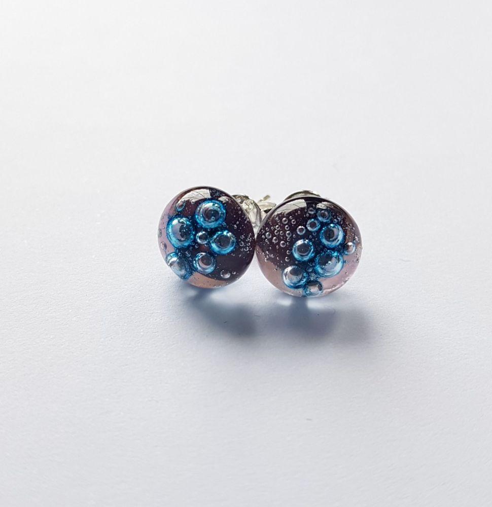 Bubbles - Pale purple bubbles stud earrings