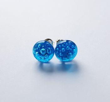 Bubbles - Turquoise blue bubbles stud earrings