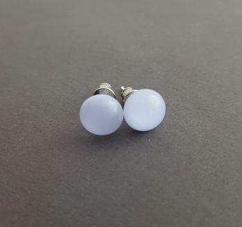 Mauve opaque glass stud earrings
