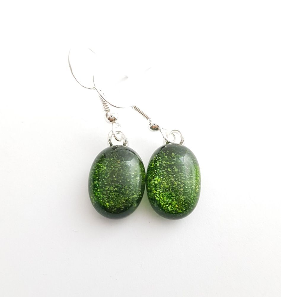 Sparkly Aventurine green earrings