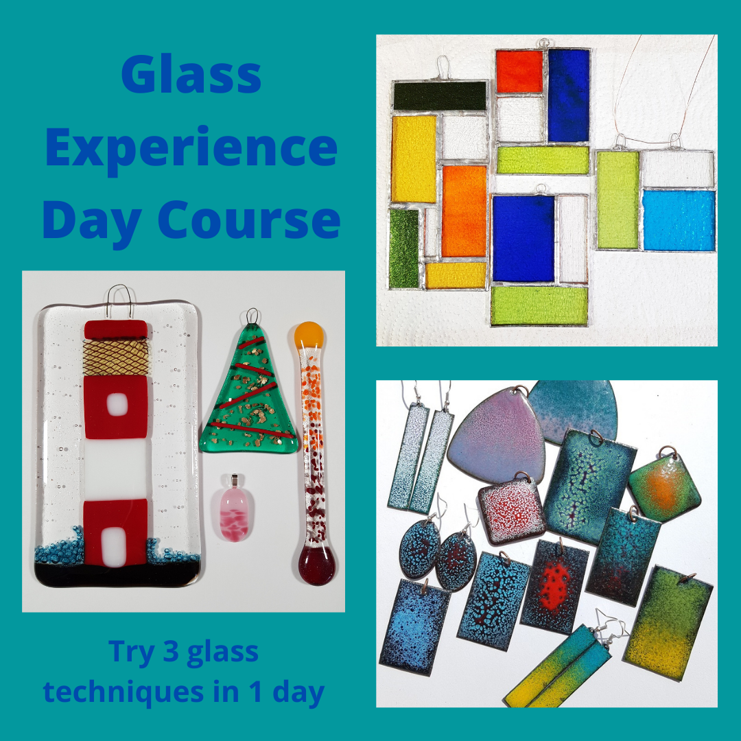 Stained glass for beginners workshop in Worcester