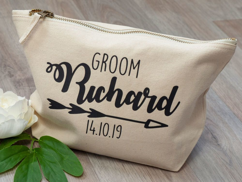 PERSONALISED CANVAS WASH BAG