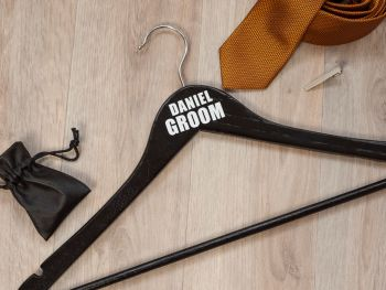 PERSONALISED GROOM COATHANGER