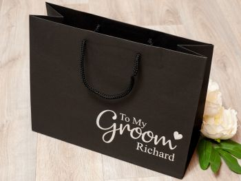 PERSONALISED GROOM GIFT BAG