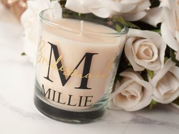 PERSONALISED BRIDAL PARTY CANDLE