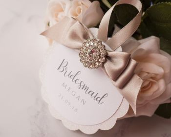 PERSONALISED WEDDING HANGER TAG