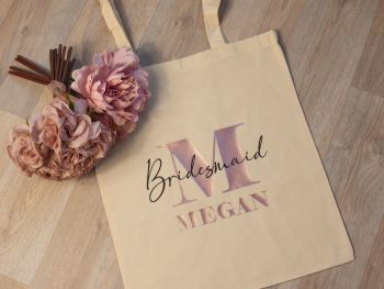 PERSONALISED BRIDAL PARTY TOTE BAG