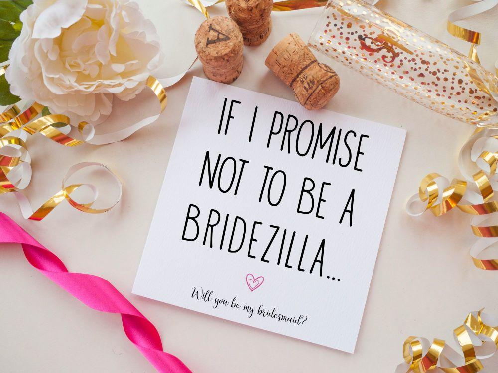 BRIDESMAID PROPOSAL CARD - BRIDEZILLA