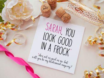 BRIDESMAID PROPOSAL CARD - FROCK