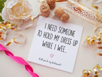 BRIDESMAID PROPOSAL CARD - WEE