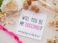 BRIDESMAID PROPOSAL CARD - WILLY STRAWS