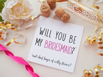 BRIDESMAID PROPOSAL CARD - WILLY STRAWS