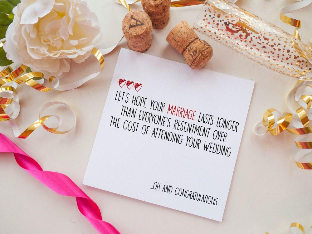 WEDDING DAY CARD - RESENTMENT