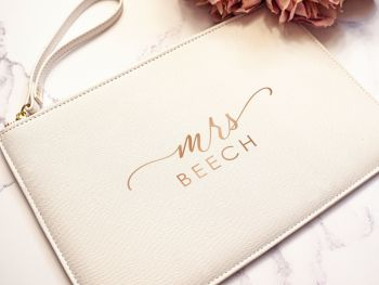 "PERSONALISED ""MRS"" ACCESSORY POUCH"