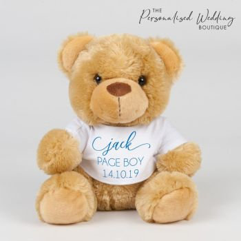 PERSONALISED PAGE BOY TEDDY BEAR