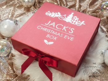 CHRISTMAS EVE BOX - HOLLY DESIGN
