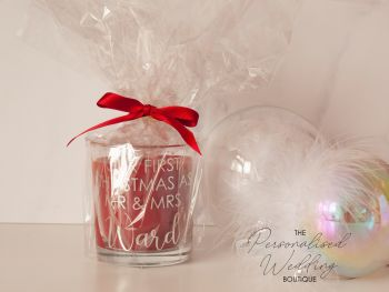 PERSONALISED CHRISTMAS GIFT CANDLE