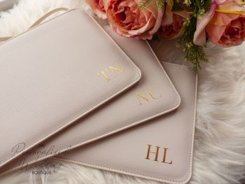 PERSONALISED SIMPLE MONOGRAM ACCESSORY POUCH