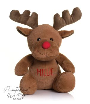 PERSONALISED RUDOLPH TEDDY