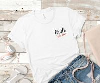 BRIDE TO BE TSHIRT (POCKET TEXT)