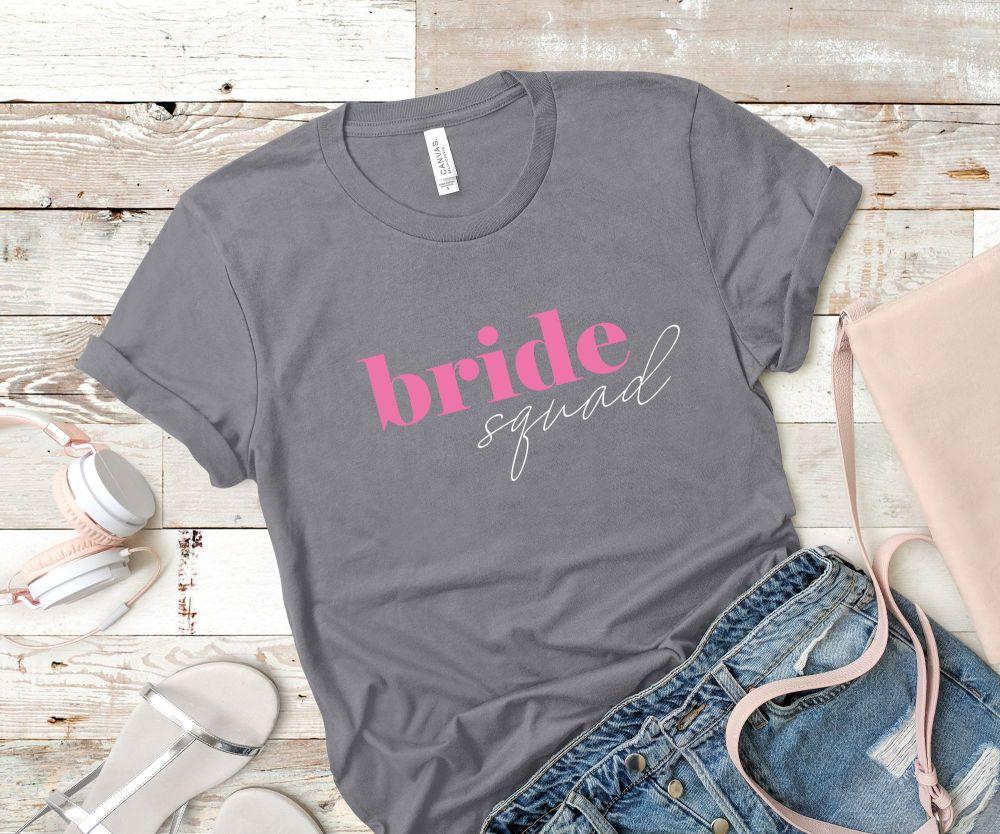 HEN PARTY TSHIRT - BRIDE SQUAD