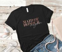 PERSONALISED HEN PARTY TSHIRT(MAID OF HONOUR)