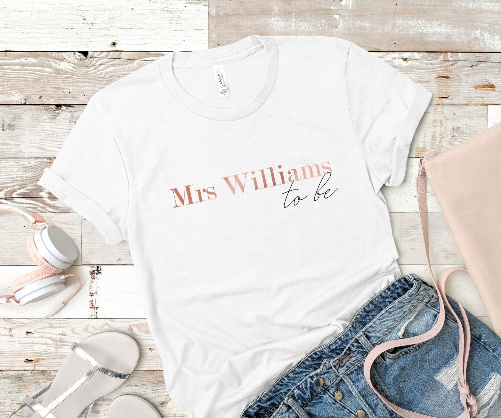 PERSONALISED MRS TO BE TSHIRT
