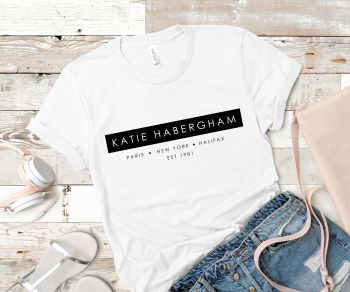 PERSONALISED FASHION ICON TSHIRT
