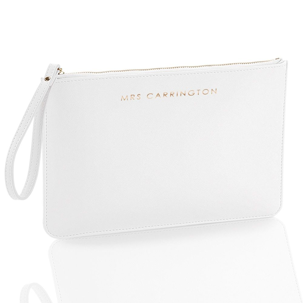 PERSONALISED NAME SAFFIANO POUCH