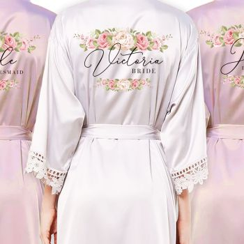 PERSONALISED BRIDAL PARTY ROBES (VICTORIA)