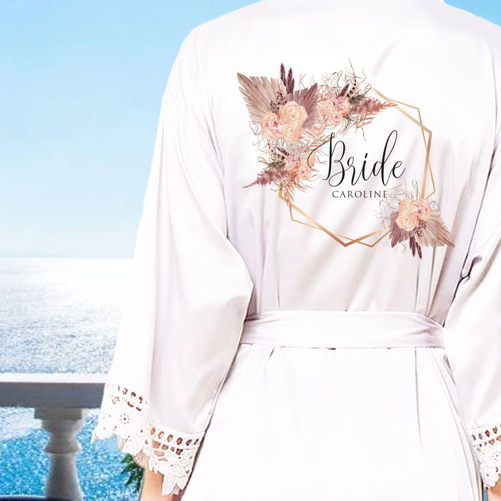 PERSONALISED BRIDAL PARTY ROBES (CAROLINE)