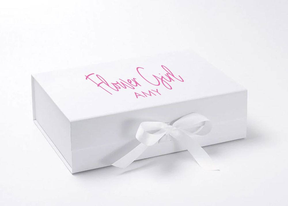 PERSONALISED BRIDAL PARTY GIFT BOX (WITH RIBBON)