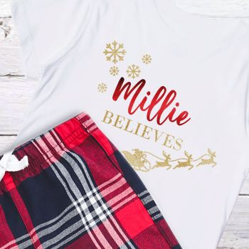 PERSONALISED CHRISTMAS PYJAMAS FOR THE WHOLE FAMILY (Believes)