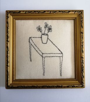 TBW #29 TABLE AND VASE