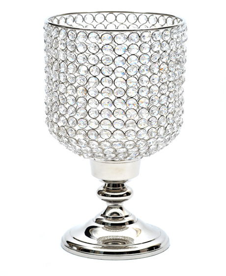 Crystal Hurricane on Stand Silver Plate FInish
