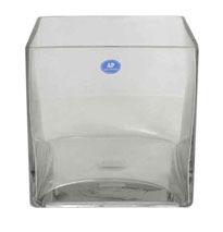 Glass cube 18cm