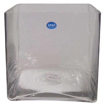 Glass cube 25cm