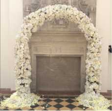WHITE SILK FLOWER ARCH