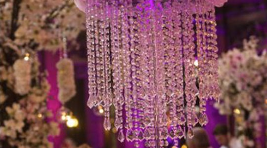 Table crystal chandelier