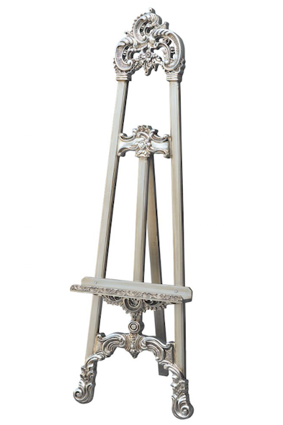 ORNATE EASEL - SILVER