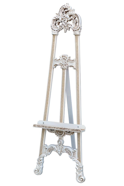 ORNATE EASEL - WHITE