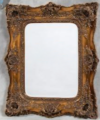 ORNATE 'TABLE PLAN' MIRROR - GOLD