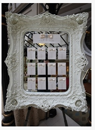 Ornate Table Plan mirror  & Flower table plan